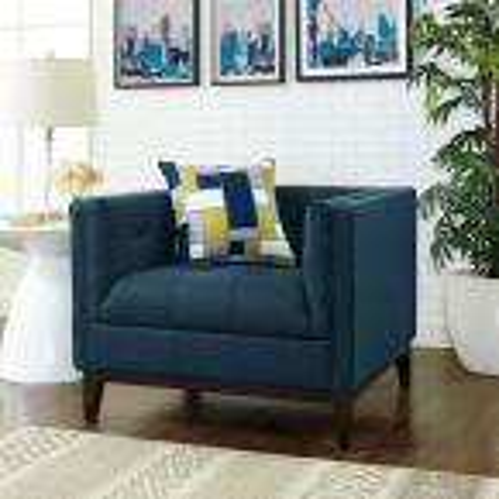 Serve Azure Upholstered Armchair