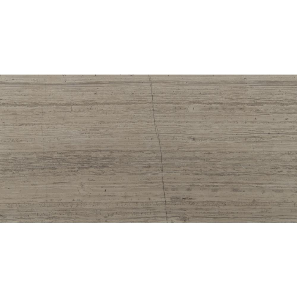 MSI Gray Oak 12 in. x 24 in. Honed Marble Floor and Wall Tile (10 sq. ft. / case)