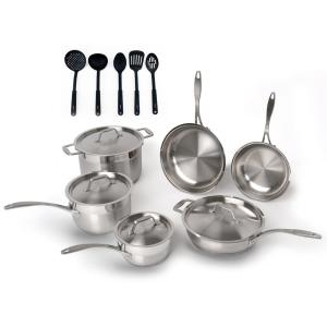 BergHOFF EarthChef 15-Piece Cookware Set with Utensil Set by BergHOFF