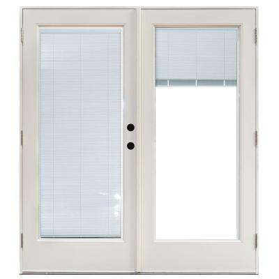 60 in. x 80 in. Fiberglass Smooth White Left-Hand Outswing Hinged Patio  sc 1 st  The Home Depot & French Patio Door - Patio Doors - Exterior Doors - The Home Depot