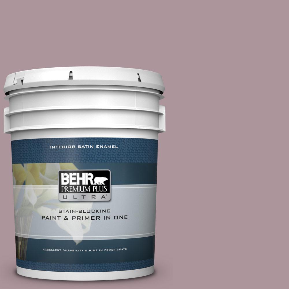 BEHR Premium Plus Ultra 5 gal  #ICC-64 Heirloom Quilt Satin Enamel Interior  Paint and Primer in One