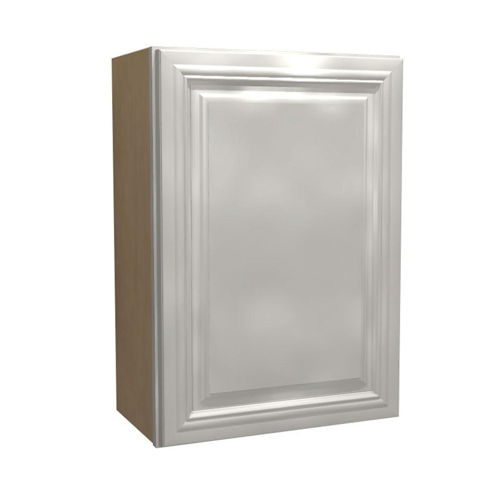 Home Decorators Collection 15x30x12 in. Coventry Assembled Wall Cabinet with 1 Door Left Hand in Pacific White