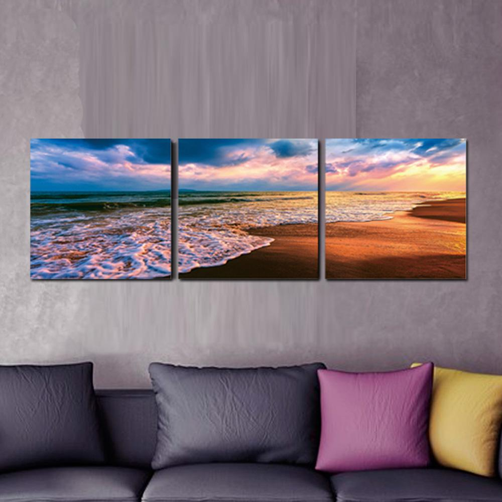 Furinno 16 In X 48 In Beach Sunset Printed Wall Art