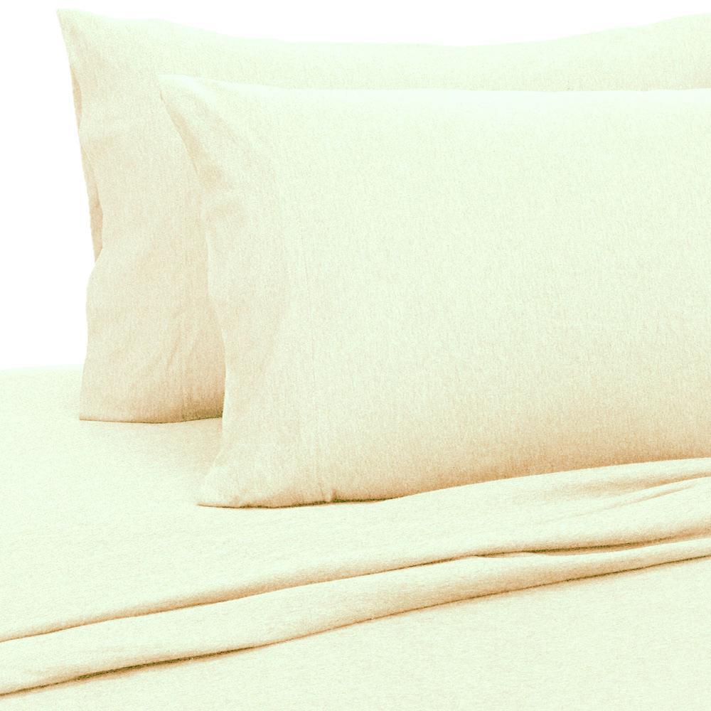 Oatmeal Royale Linens Soft Tees Cotton Modal Jersey Knit Sheet Set Full