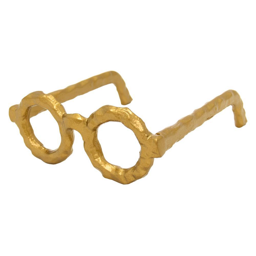 6.25 in. x 7.25 in. Eye Glass Round Frame in Gold