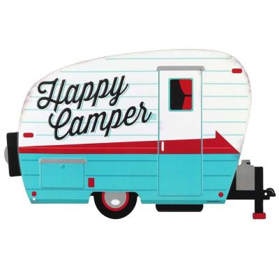 Happy Campers Embossed Tin Sign