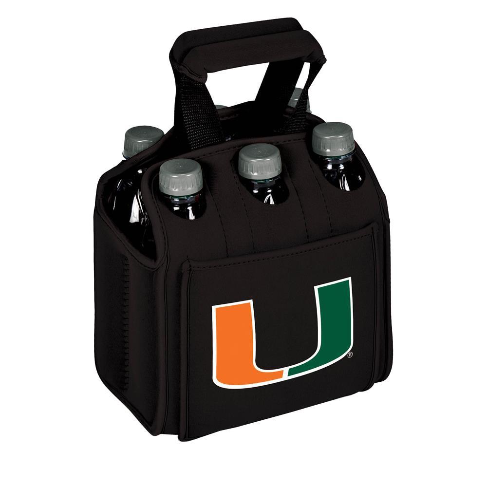 University of Miami ( Florida) Hurricanes 6-Bottles Black Beverage Carrier