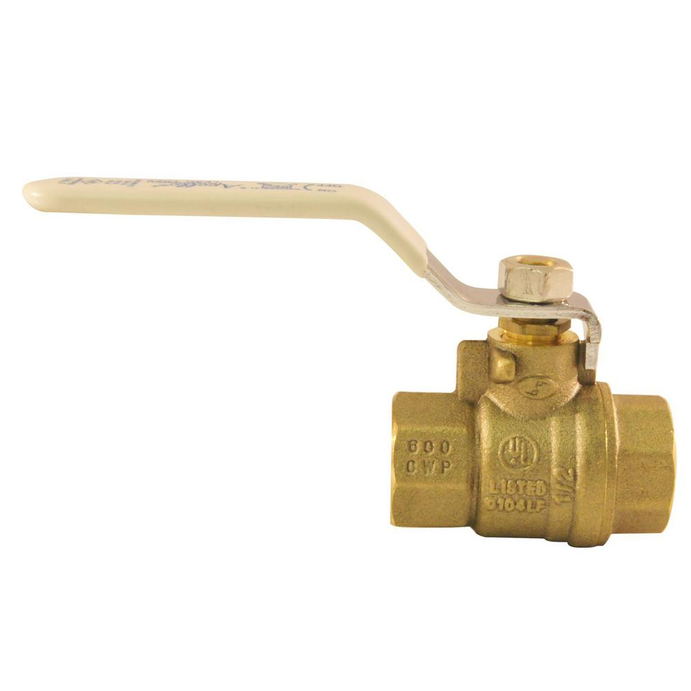 1/4 in Lead Free Brass FNPT x FNPT Full-Port Ball Valve