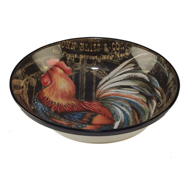 Certified International Gilded Rooster Multi-Colored 13 in. x 3 in.