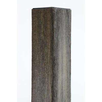 4 in. x 4 in. x 96 in. Cape Cod Gray Composite Fence Post with Solid Wood Insert