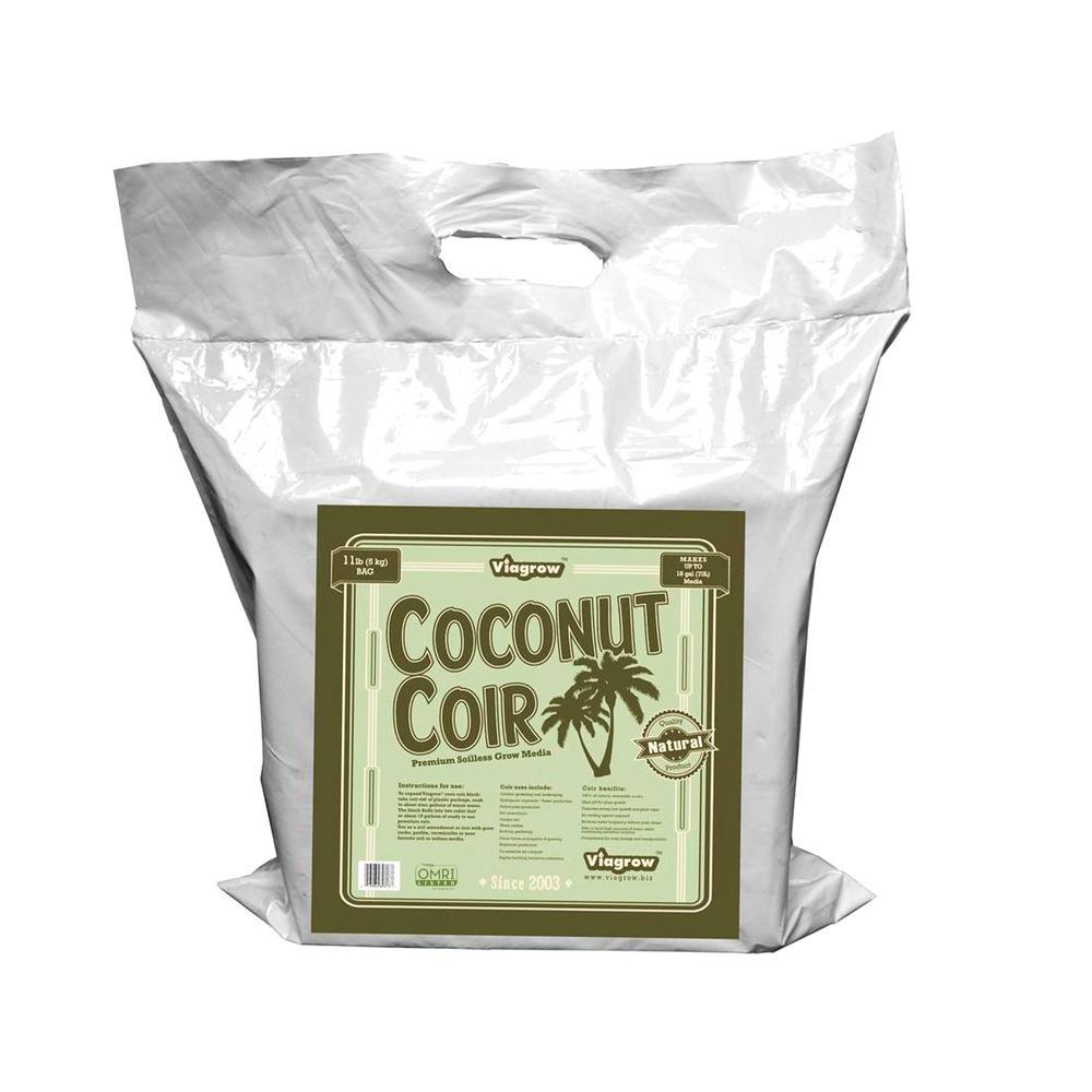 11 lb. (5KG) Coconut Coir Block of Soilless Media