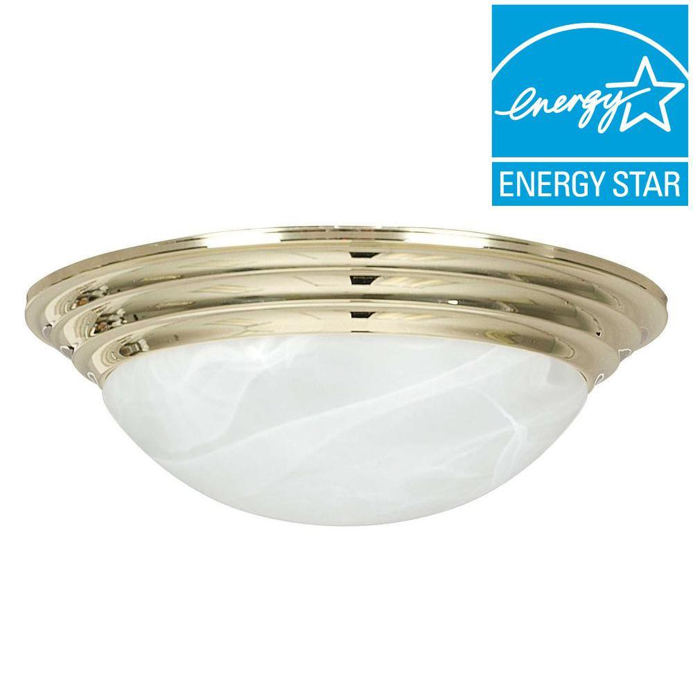 Engelmann 2-Light Polished Brass Flush Mount