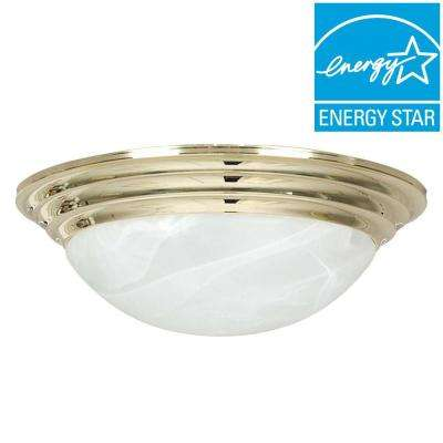 Engelmann 2-Light Polished Brass Flush Mount