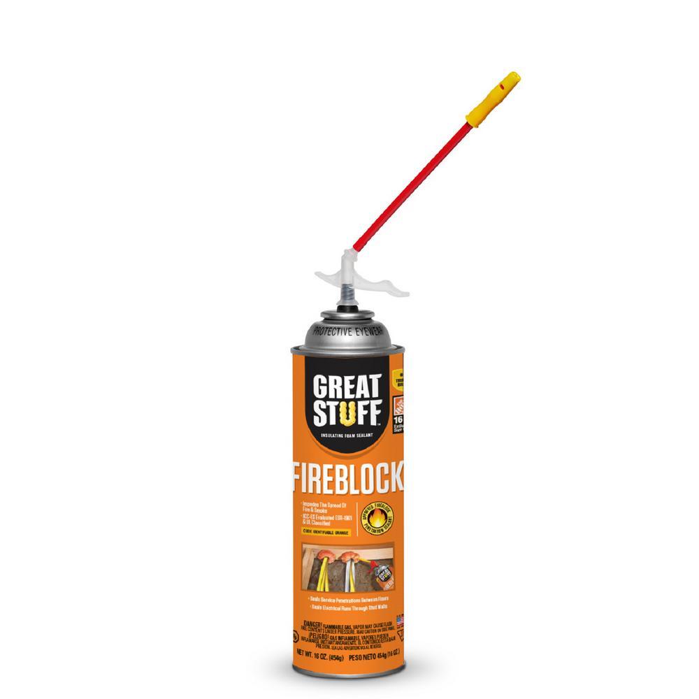 16 oz. Fireblock Insulating Foam Sealant with Quick Stop Straw