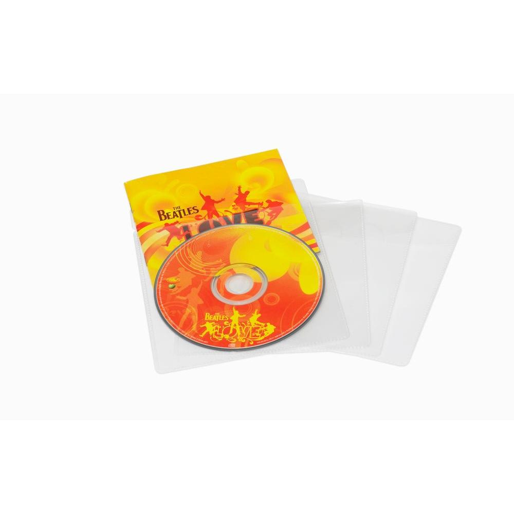 Atlantic Media Living 20 Clear CD Music Sleeves-DISCONTINUED