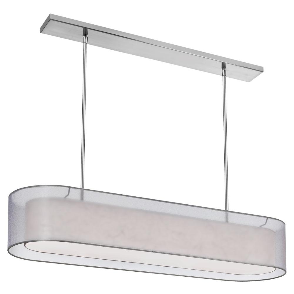 4-Light Satin Chrome Pendant