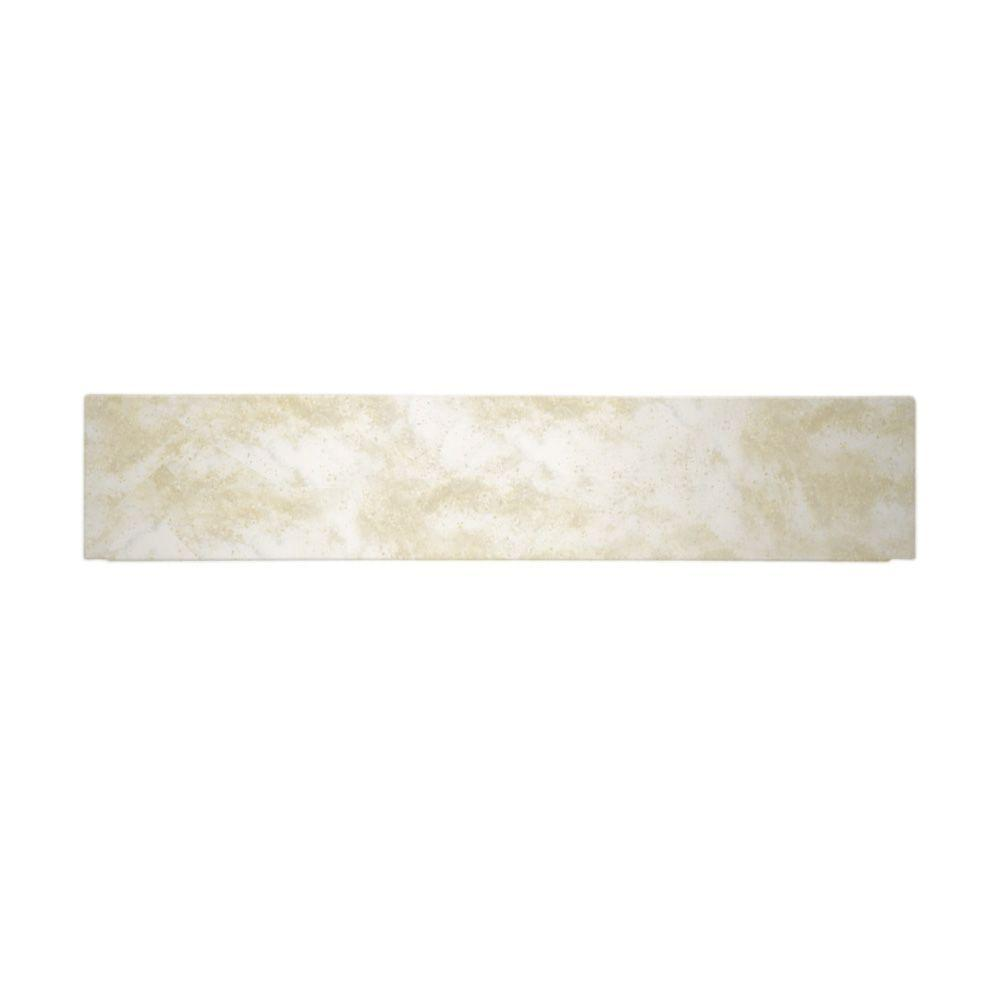 Swanstone 12 in. x 60 in. Solid Surface Barrier-Free Shower Floor Ramp in Cloud White-DISCONTINUED
