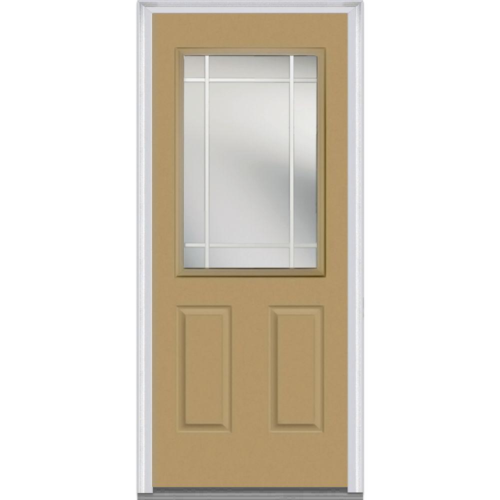 MMI Door 36 in. x 80 in. Prairie Internal Muntins Right-Hand Inswing  sc 1 st  Home Depot & MMI Door 36 in. x 80 in. Prairie Internal Muntins Right-Hand Inswing ...