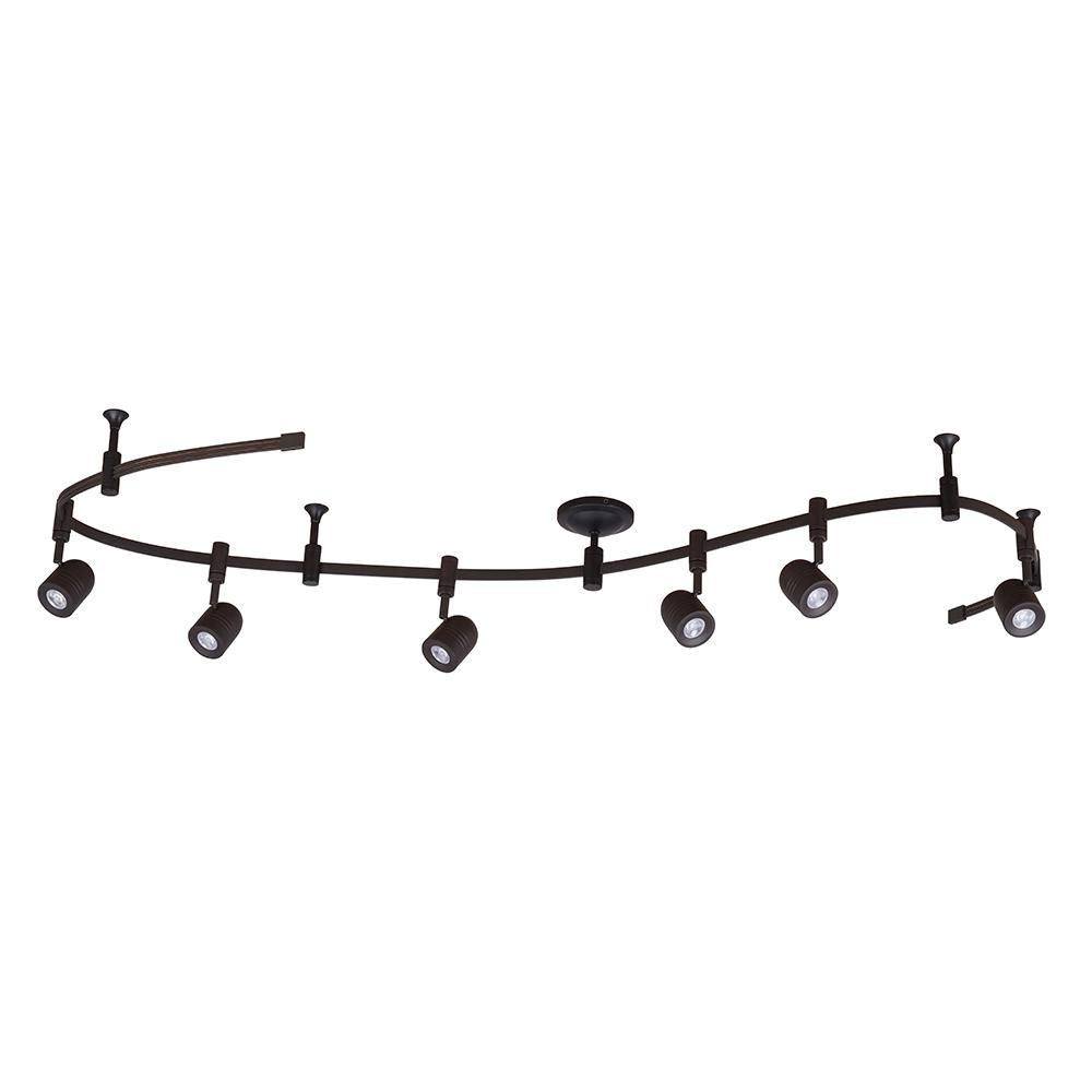 Cresswell 8 Ft 6 Light Oil Rubbed Bronze Integrated Led Flex Track Lighting Kit
