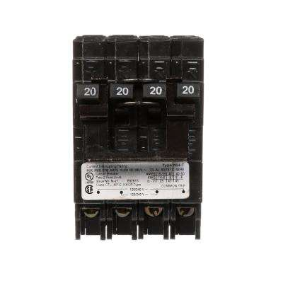 (2) 20 Amp Double-Pole Type MH-T Quad Plug-In Circuit Breaker