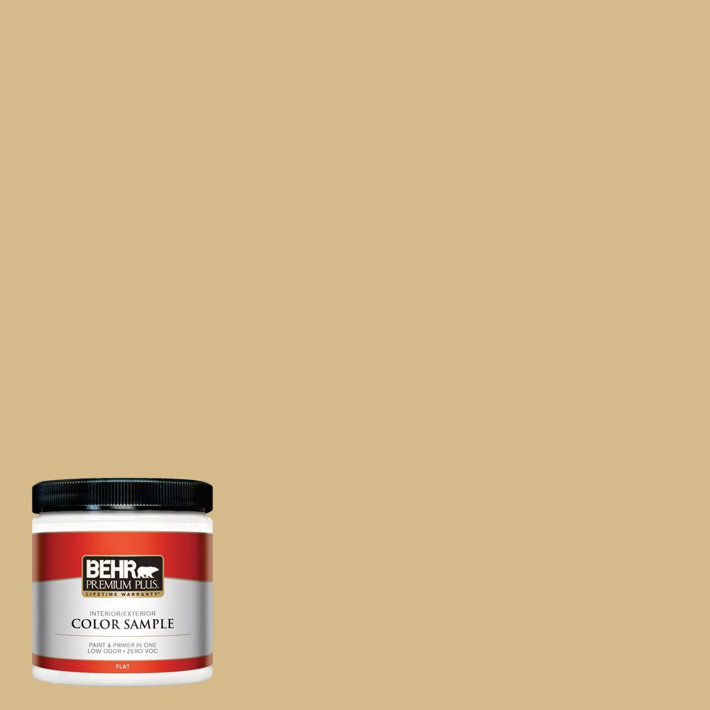 BEHR Premium Plus 8 oz. #350F-5 Camel Interior/Exterior Paint Sample