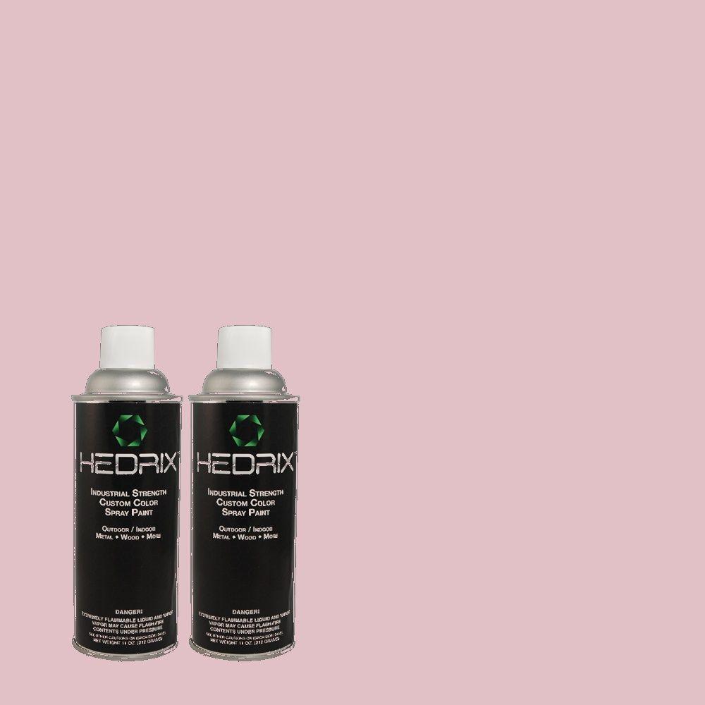 Hedrix 11 oz. Match of 690C-3 Delicate Bloom Flat Custom Spray Paint (2-Pack)