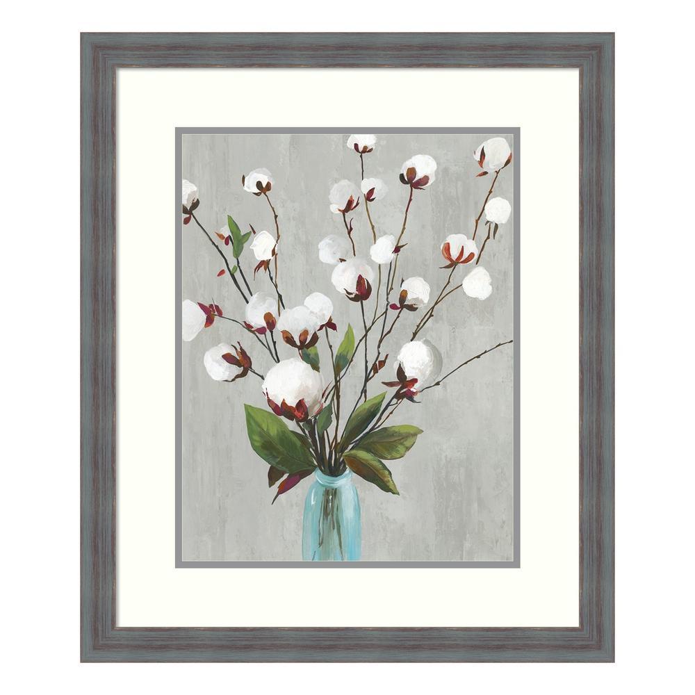 Amanti Art ''Cotton Ball Flowers II'' by Asia Jensen Framed Wall