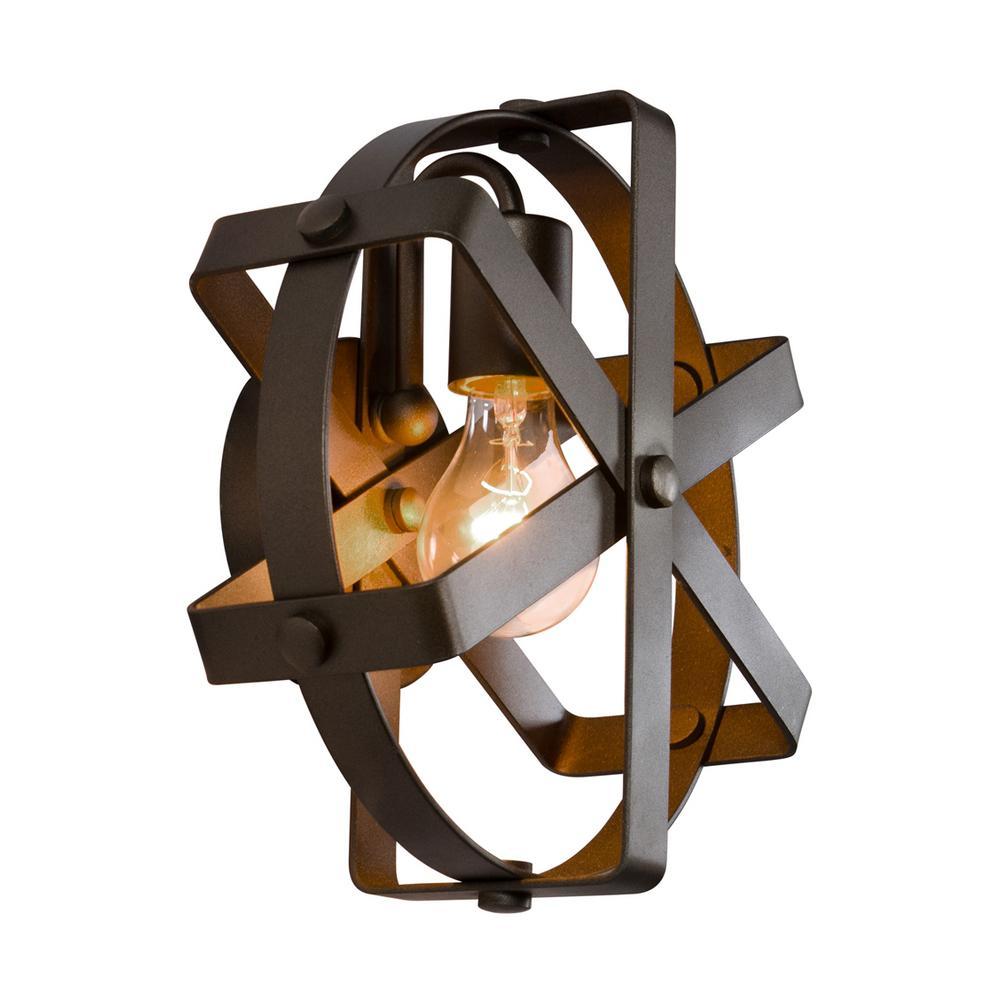 Reel 1-Light Rustic Bronze Sconce