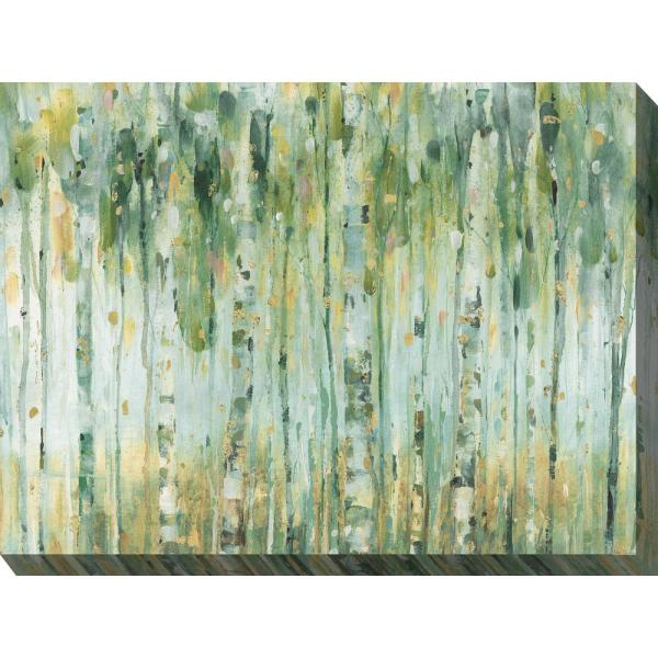 40 In X 30 In Forest In Sage Outdoor Canvas Wall Art