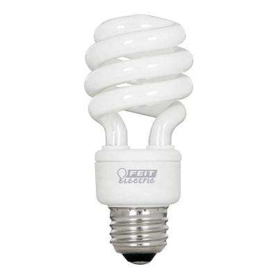 60-Watt Equivalent Soft White A19 Spiral CFL Light Bulb