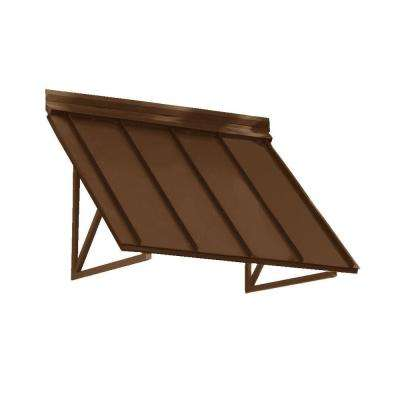 5.6 ft. Houstonian Metal Standing Seam Awning (68 in. W x 24 in. H x 36 in. D) in Copper