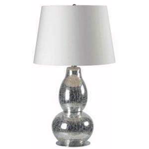 Kenroy Home Mercurio 28 inch Cracked Chrome Glass Table Lamp by Kenroy Home