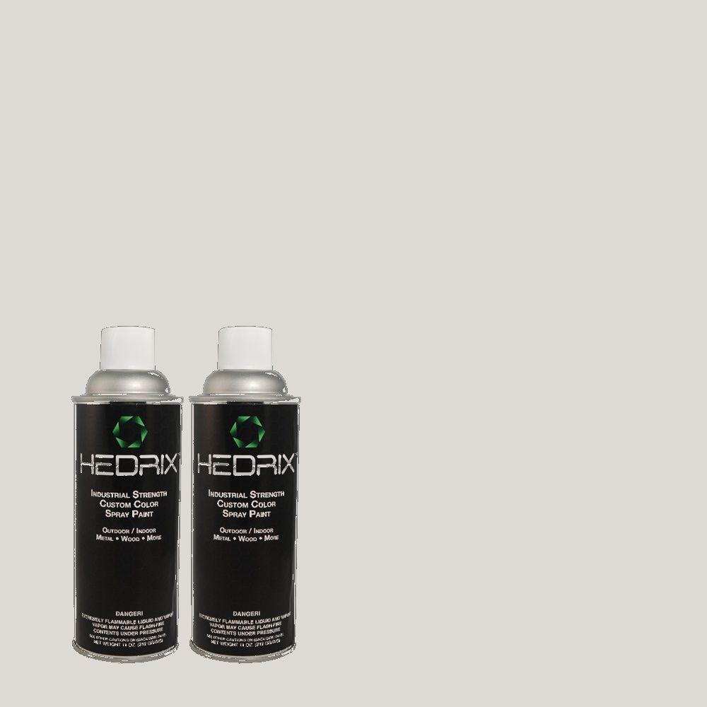 Hedrix 11 oz. Match of MQ3-25 Gray Shimmer Semi-Gloss Custom Spray Paint (8-Pack)