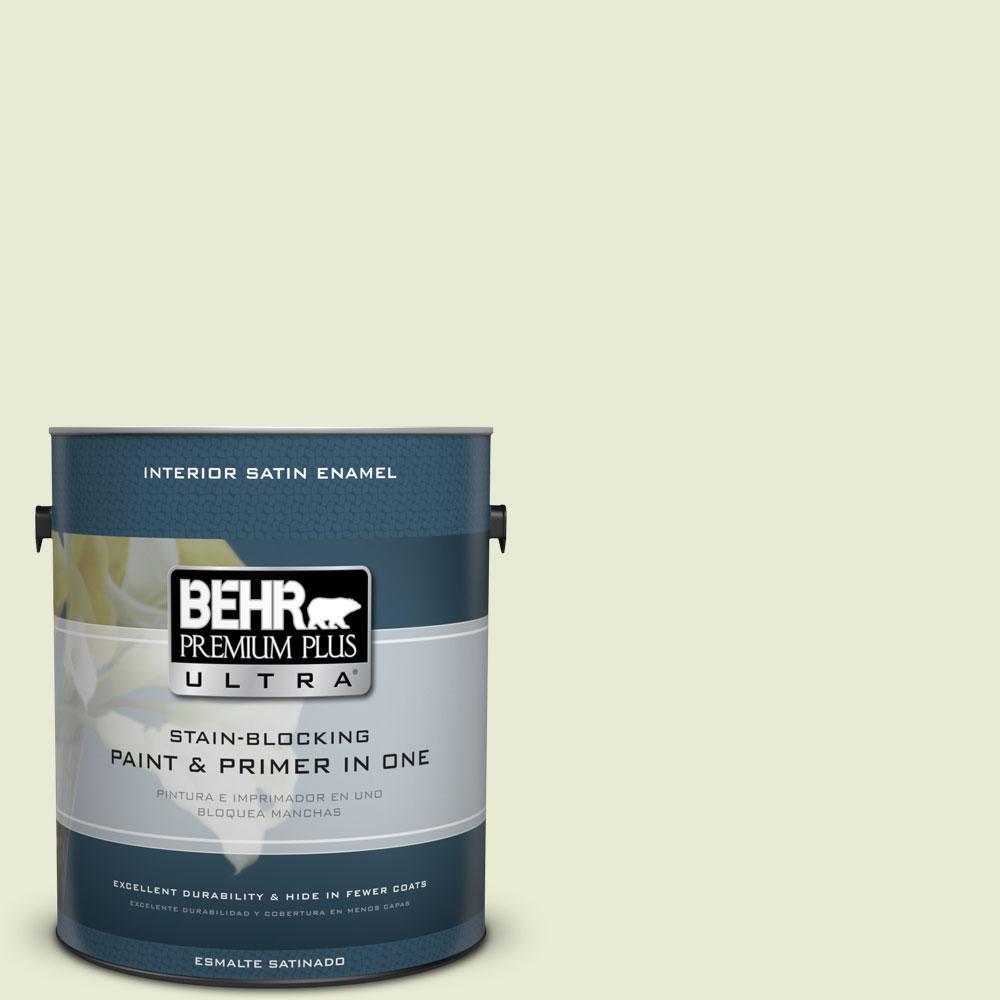 BEHR Premium Plus Ultra 1-gal. #410E-2 Celery Ice Satin Enamel Interior Paint