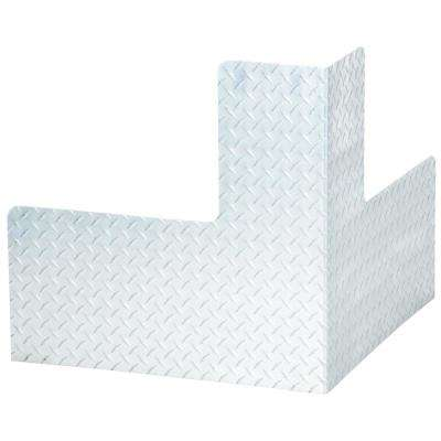 24 in. x 24 in. x 24 in. Aluminum Plate Corner Machinery Guard