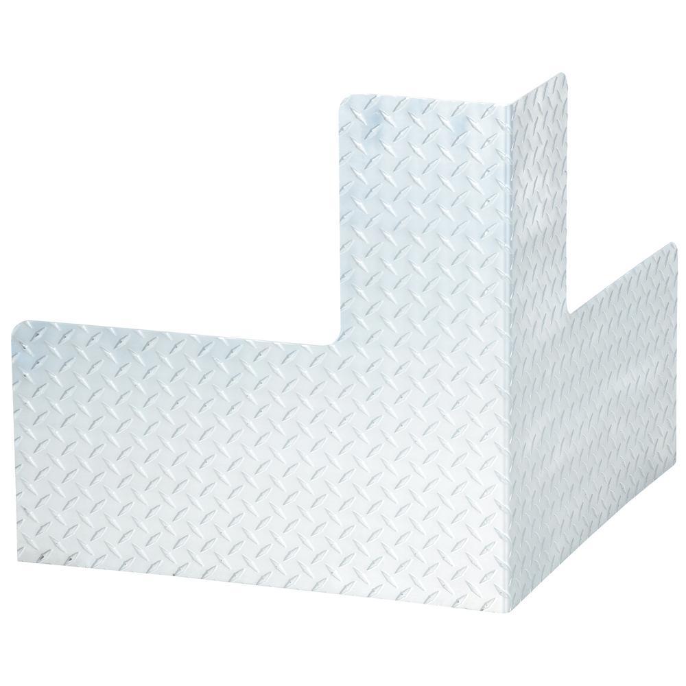 24 in. x 24 in. x 24 in. Aluminum Plate Corner Machinery Guard