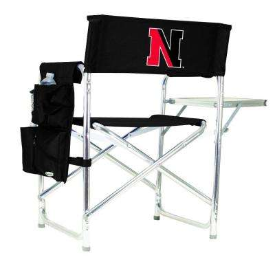 Northeastern University Black Sports Chair with Embroidered Logo