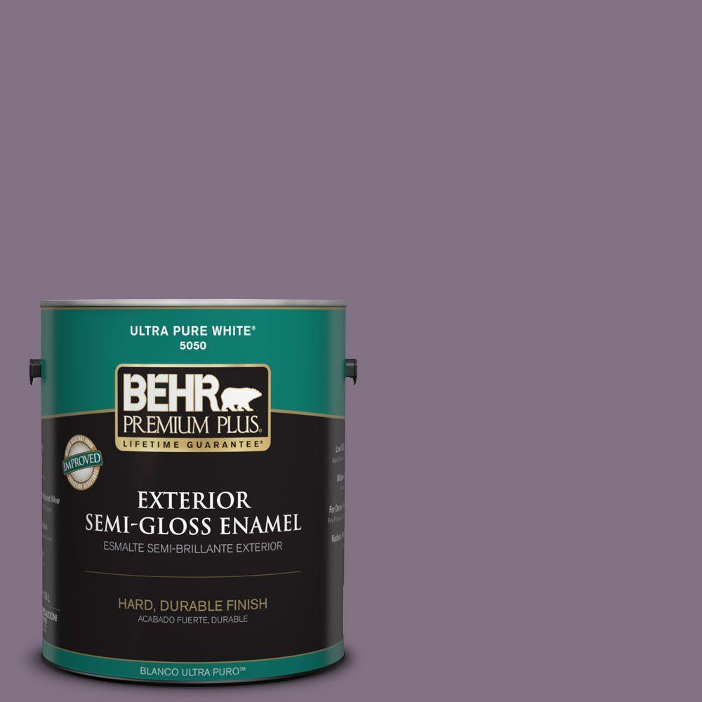1-gal. #HDC-SP14-9 Decorative Iris Semi-Gloss Enamel Exterior Paint