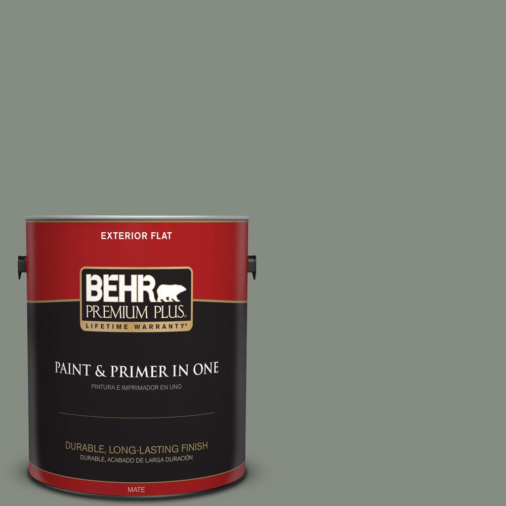 BEHR Premium Plus 1-gal. #PPF-34 Peaceful Glade Flat Exterior Paint