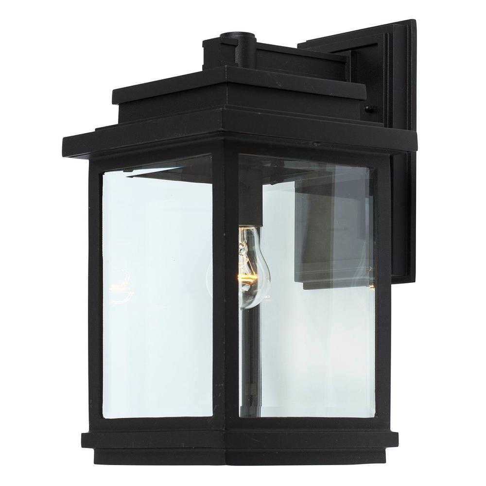 ARTCRAFT Moravia 1-Light Black Outdoor Sconce  sc 1 st  Home Depot & ARTCRAFT Moravia 1-Light Black Outdoor Sconce-CLI-ACG839044 - The ...