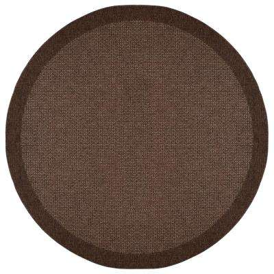Serenity Mocha 7 ft. 6 in. x 7 ft. 6 in. Round Area Rug