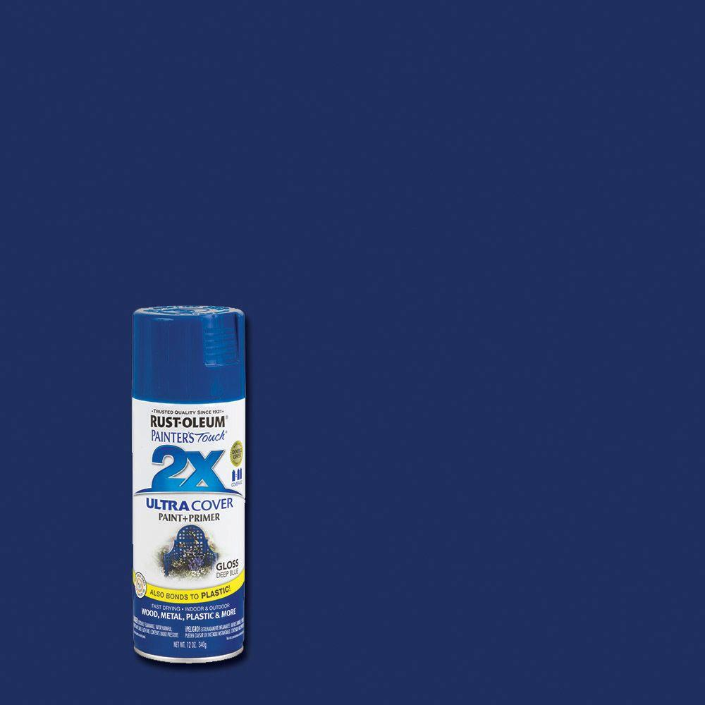 Rust Oleum Painter S Touch 2x 12 Oz Gloss Deep Blue