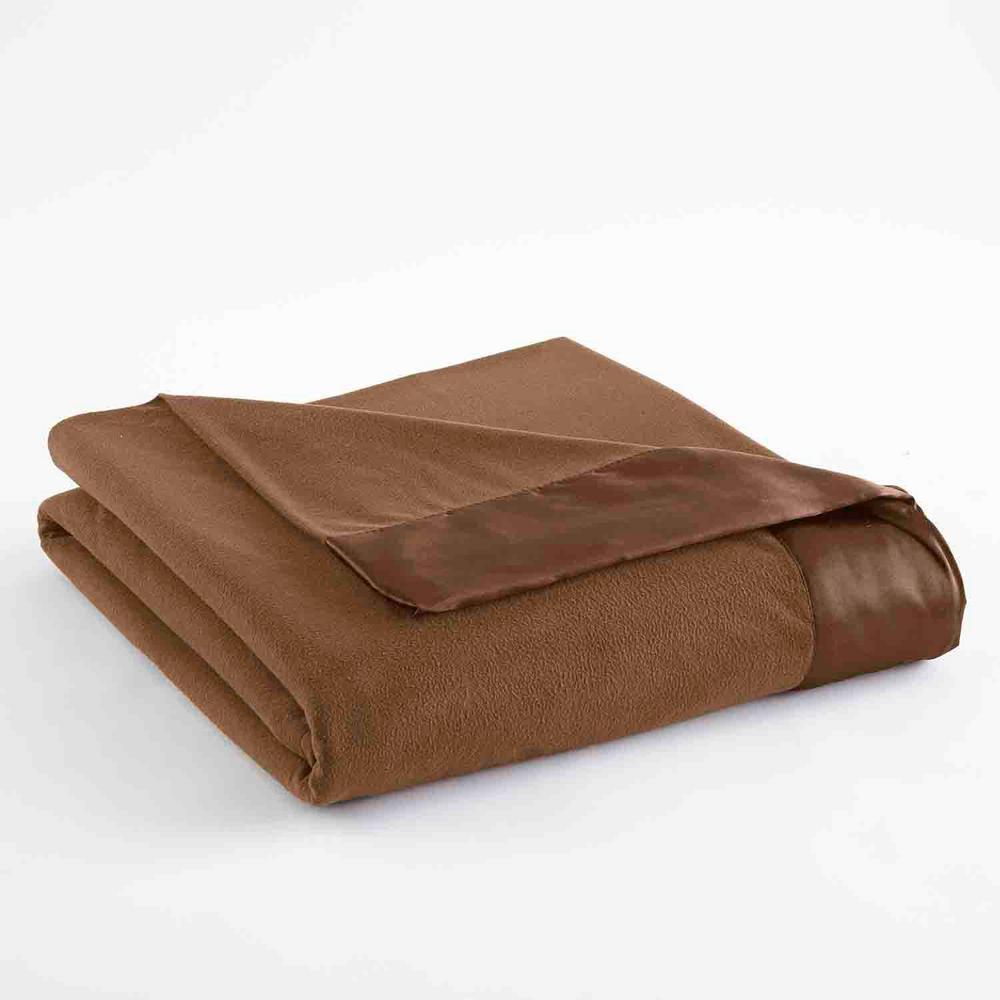Full Queen Chestnut Year Round Polyester Sheet Blanket