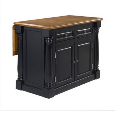 Monarch Black and Oak Kitchen Island