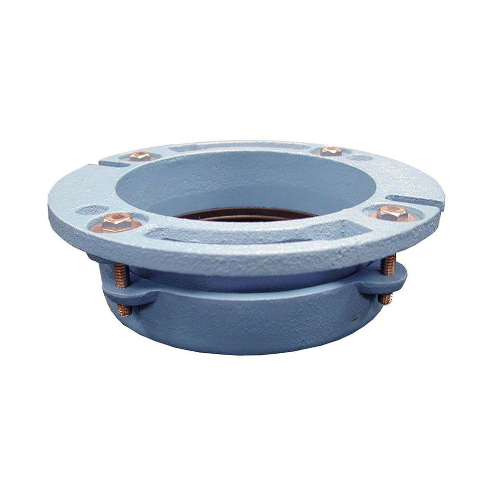 Toilet Flange Installation New Construction : Quikset in cast iron closet flange c