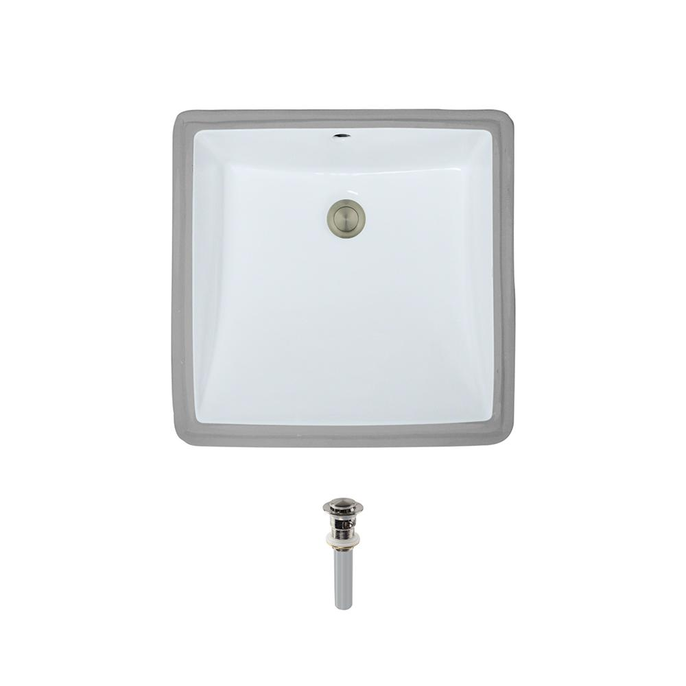 Mr direct undermount porcelain bathroom sink in white - How to install an undermount bathroom sink ...