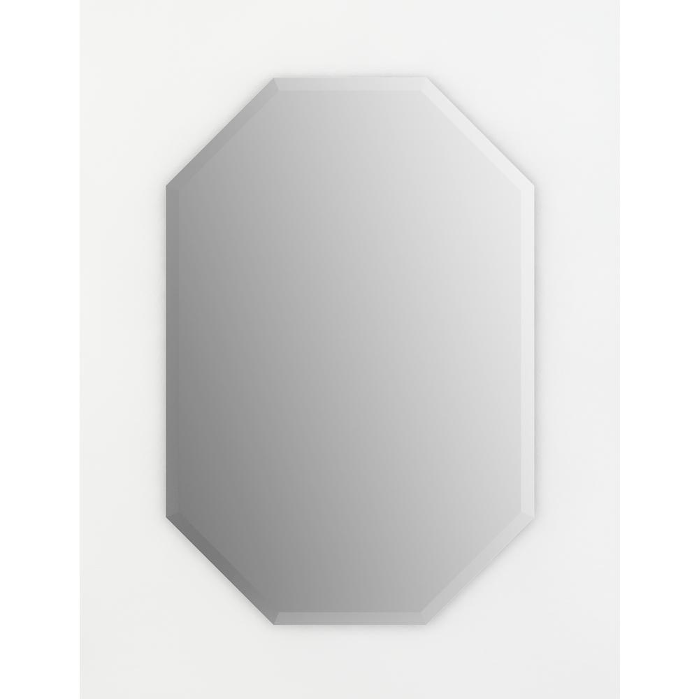 27 in. W x 40 in. H (L3) Frameless Octagon Deluxe Glass Bathroom Vanity Mirror