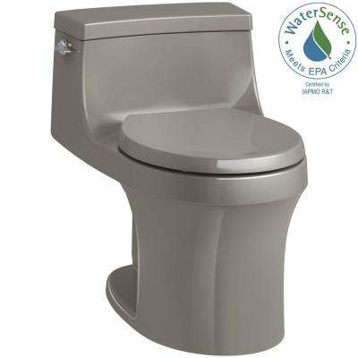 San Souci 1-piece 1.28 GPF Single Flush Round Toilet in Cashmere