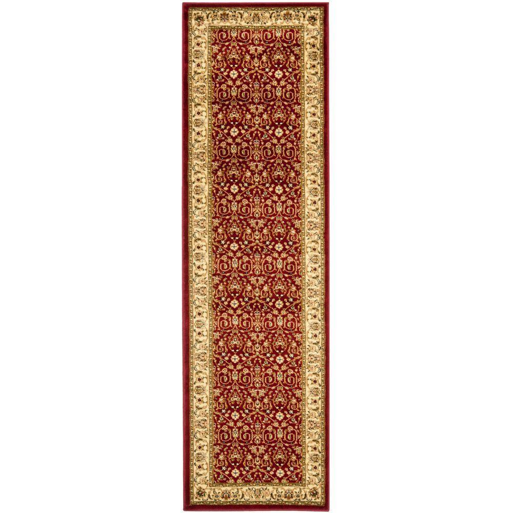 Lyndhurst Red/Ivory 2 ft. x 10 ft. Runner Rug