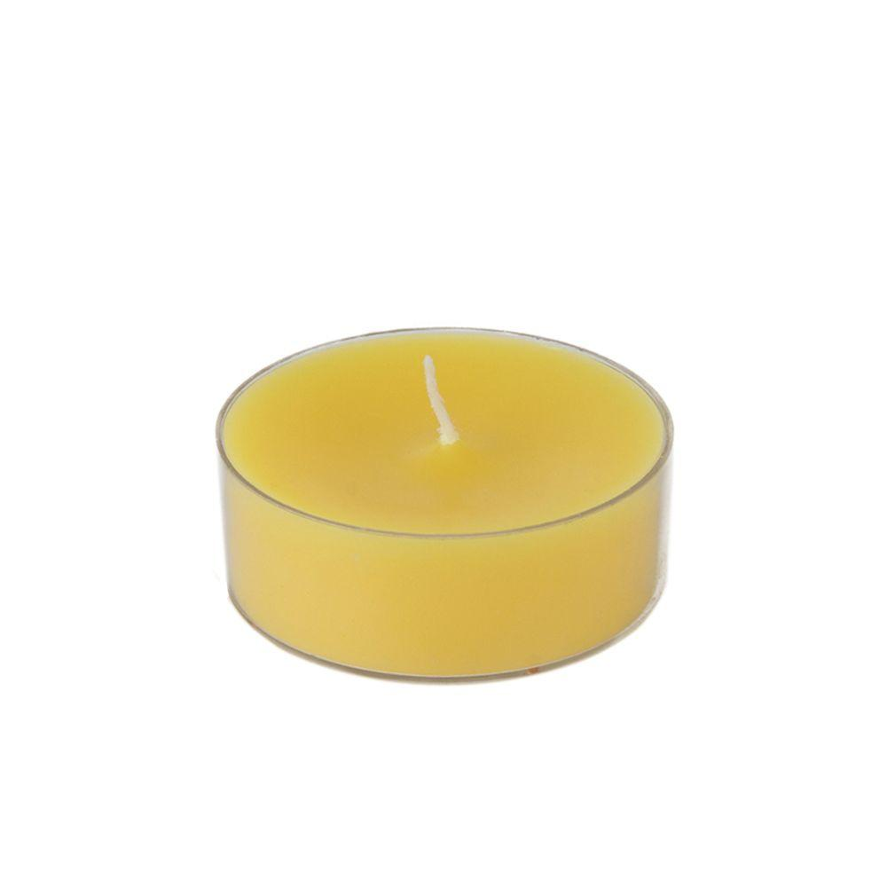 Zest Candle 2.25 in. Yellow Mega Oversized Tealights (12-Box)